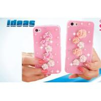 Quality Iphone 5 / 6 Diamond Cell Phone Leather Cases Water-proof OEM for sale