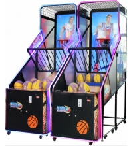 Quality Acrylic Metal Arcade Basketball Game Machine Monitor STORM SHOT for sale