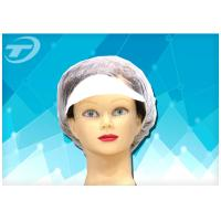 Customized Size  White Snood Disposable Surgical Caps / Hairnet