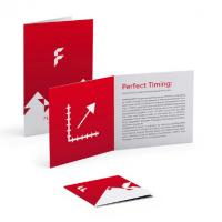 Buy cheap Art Paper Custom Folded Leaflets , Offset Printing Flyers Business Cards from wholesalers