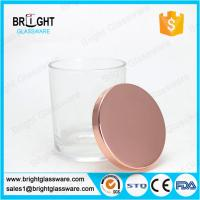 Best electroplating rose gold metal lids for candle holder wholesale