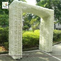 Quality UVG 2.5 meters artificial rose and hydrangea flower entrance for wedding hall decoration CHR1145 for sale