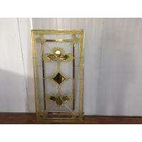 China Custom Glass Panels For Doors , 16-30 Mm Decorative Stained Glass on sale