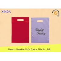 China Heat Press Die Cut Handle Bags with LDPE HDPE Material Custom 40 - 100 micron Thick on sale