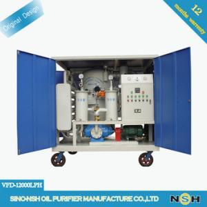 China Safe Transformer Oil Purifier Machine , 50LPM Vacuum Dehydrator Oil Purification System on sale