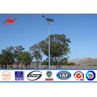 Best 12m Galvanized Painted 400W Round Solar Street Lighting Poles For Road / Highway wholesale