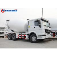 Quality Large Howo 8 * 4 12m3 Cement Pump Truck , 3 Yard Mobile Cement Mixer Trucks for sale