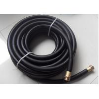 China Black Rubber Heavy Duty Contractor Commercial Grade Water Hose With Brass Fittings on sale