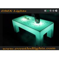 Best Ourdoor indoor plastic Popular white color LED lighting portable bar table wholesale