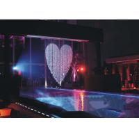 Quality Musical Artificial Waterfall Water Fountain , Indoor Water Curtain Fountain for sale