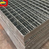 Quality Large Hot Dip Galvanized Grating Serrated Bar Grating Stair Treads ASTM E84 for sale