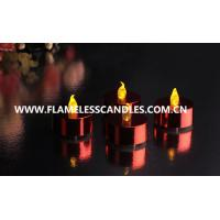 China Metallic LED Battery Operated Tealight Candles / Plastic Indoor LED Window Candles on sale