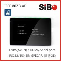 Buy cheap Attendance System 7 Inch Wall Mounted Android POE Touch Screen With RGB LED Light from wholesalers