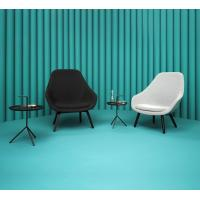 Best Fabric Hay Lounge Chair With Wood Legs , Modern Furniture Low Lounge Chair wholesale