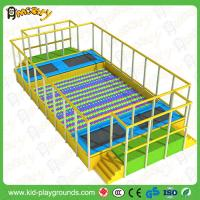 Best large indoor trampoline with ball pool indoor playground equipment wholesale
