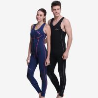 China 1.5mm SCR shoulderless zipper wetsuit Titanium coating inside nylon outside knee protect on sale
