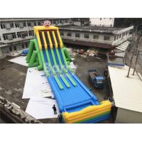 Quality Commercial Grade 4 Lanes Wet Giant Inflatable Water Slide For Big Event for sale