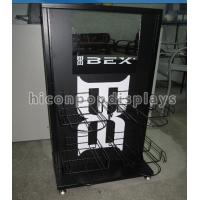 Best Black Metal Counter Display Units 4 Holders Show Caps Store Display Stands wholesale