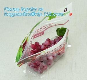Quality fruit bag with holes sandwich slider zip deli bag, slider zip bag for fresh fruit packaging, grape bag with hole/ slider for sale