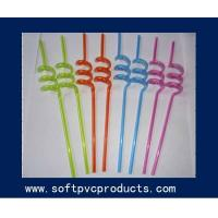 Quality Novelty Soft PVC Drinking Straw Holder , Custom Made Drinking Straws 3MM Diameter for sale