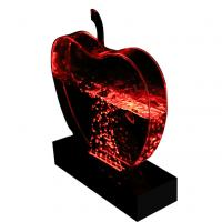 Buy best price of apple shape bubble display rack bubble wall water panel at wholesale prices