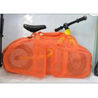 Quality 2020 New Style 12inch Mesh Adhesive Baby Push Bike Bag Children Balance Bike Bag  Orange for sale