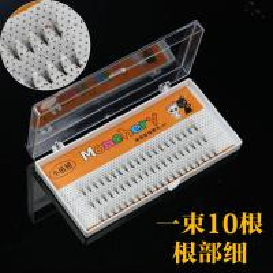 Best 10D 3D Volume Eyelash Extensions , Prime Semi Permanent Individual Lashes Silk wholesale