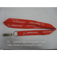 Quality Jacquard airline service logo id badge holder lanyard, id card holder woven neck straps, for sale