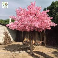 China UVG indoor decorations cherry blossom tree artificial in silk flower arrangements for wedding planners CHR155 on sale