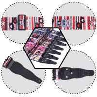 Best 5Cm Width Leather Head Polyester Custom Printed Guitar Straps Accessories For Guitar Decoration wholesale