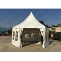 Quality White PVC Cover Pagoda Party Tent , Waterproof Outdoor Event Tent Transparent Windows for sale