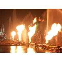 Quality Brilliant Fire And Water Feature With Flame Nozzle For Open Space 2 Years Warranty for sale