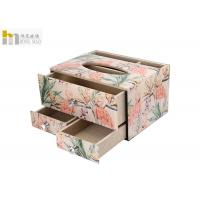 Quality Beautiful Decorative Tissue Box / Tissue Storage Box For Office Lightweight for sale