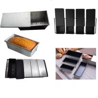 Buy cheap Square Bakeware Strapped Mini Loaf Pan Toast Box Nonstick Aluminized Steel from wholesalers