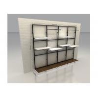 China Commercial Retail Wall Mounted Display Racks Modern Style With 60CM Wooden Shelf on sale