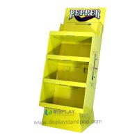 China Bespoke Cardboard Stand Displays with 3 Shelves for Pepper Promotion on sale