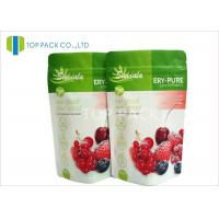 Best Matte Foil Stand Up Pouches with Zipper / high barrier bags Fresh Fruit Packaging wholesale