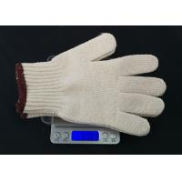 Quality High Durability Hand Protection Gloves , White Cotton Inspection Gloves Breathable for sale