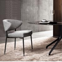 Quality Elegant iron metal armless fabric dining chair for Home Restaurant Hotel for sale
