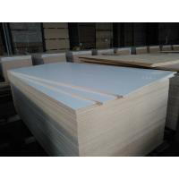Quality melamine particle board for furniture,laminate MDF 1220X2440X18mm E2,Warm white,good quality for sale