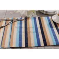 Quality PP,EVA,Blue,black,yellow and grey,silver,Round,Rectangular,Eco Friendly Polyester Plastic Woven Placemats for sale