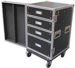 Quality 16U Standard Customer Design Eva Tool Case Wooden / Aluminum / Plastic Tool Cases for sale