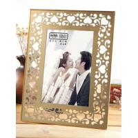 Quality Durable Brass And Glass Picture Frame Compliment Any Decor 180*230*15MM Size for sale