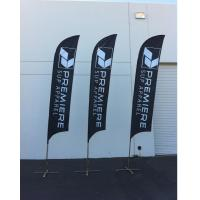 Best Knitted Fabric Beach Feather Flags Banner Printing Waterproof SGS wholesale