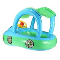 China Cartoon Car Inflatable Float Boat With Sunshade PVC Ring Tube For Infants 30*22 on sale