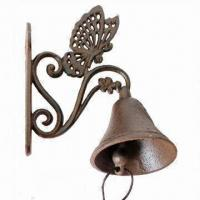 China Metal Crafts Doorbell with Butterfly Design, Available in Antique Brown on sale