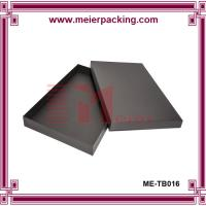 Best Luxury black mensware paper box, rigid men T-shirt cardboard package box ME-TB016 wholesale