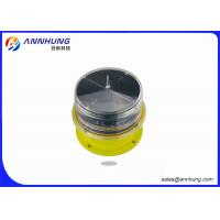 China LED Solar Red Obstruction Light , 10cd Low Intensity Aircraft Warning Light IP68 on sale