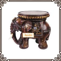 Best Wholesale Resin elephant stool figurine home decoration novelty house crafts A0545M wholesale