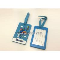 Buy cheap Blank pvc luggage tags custom logo image words numbers can be added from wholesalers